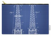 Oil Well Rig Patent From 1927 - Blueprint Carry-all Pouch