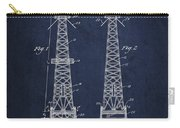 Oil Well Rig Patent From 1927 - Navy Blue Carry-all Pouch
