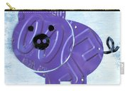 Oink The Pig License Plate Art Carry-all Pouch