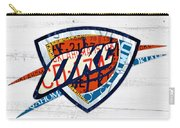 Okc Thunder Basketball Team Retro Logo Vintage Recycled Oklahoma License Plate Art Carry-all Pouch