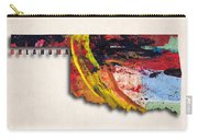 Oklahoma Map Art - Painted Map Of Oklahoma Carry-all Pouch