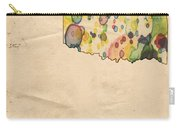 Oklahoma Map Vintage Watercolor Carry-all Pouch