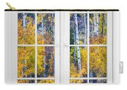 Old 16 Pane White Window Colorful Fall Aspen View  Carry-all Pouch
