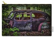 Old Abandoned Car In The Woods Carry-all Pouch