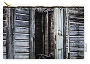 Old Abandoned Well House With Door Ajar Carry-all Pouch by Edward Fielding