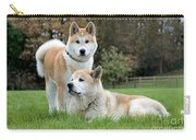 Old And Young Akita Inu Carry-all Pouch