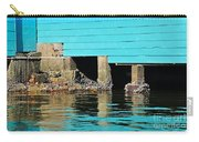 Old Aqua Boat Shed With Aqua Reflections Carry-all Pouch by Kaye Menner