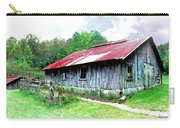 Old Barn Along Golden Road Filtered Carry-all Pouch