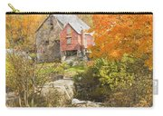 Old Barn And Dam In Autunm Vienna Maine Carry-all Pouch