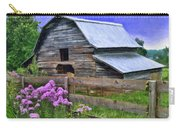 Old Barn And Flowers Carry-all Pouch