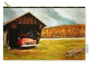 Old Barn And Red Truck Carry-all Pouch
