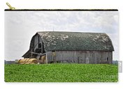 Old Barn And Round Bales Carry-all Pouch