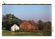 Old Barn At Sunset Carry-all Pouch by Karen Adams