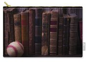 Old Baseball And Books Carry-all Pouch