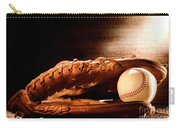 Old Baseball Glove Carry-all Pouch