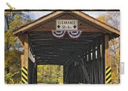 Old Bedford Village Covered Bridge Entrance Carry-all Pouch