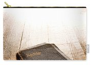 Old Bible In Divine Light Carry-all Pouch