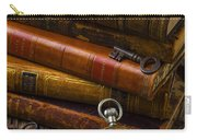 Old Books And Pocketwatch Carry-all Pouch