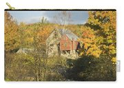 Old Buildings And Fall Colors In Vienna Maine Carry-all Pouch by Keith Webber Jr