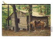 Log Cabin - Back View - At Big Creek Carry-all Pouch