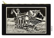 Old Case Thresher - Black And White Carry-all Pouch