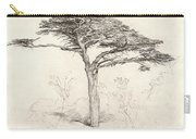 Old Cedar Tree In Botanic Garden Chelsea Carry-all Pouch