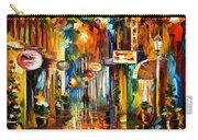 Old City Street - Palette Knife Oil Painting On Canvas By Leonid Afremov Carry-all Pouch