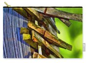 Old Clothes Pins II - Digital Paint Carry-all Pouch