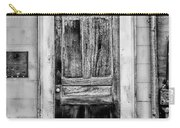 Old Door - Bw Carry-all Pouch