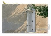 Old Door And Stucco Wall Carry-all Pouch