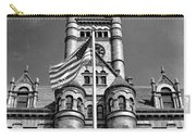 Old Dupage County Courthouse Flag Black And White Carry-all Pouch