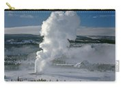 3m09133-01-old Faithful Geyser In Winter - V Carry-all Pouch