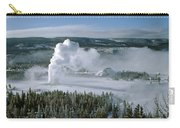 3m09132-01-old Faithful Geyser In Winter Carry-all Pouch