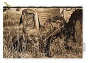 Old Farm Tractor In Sepia 1 Carry-all Pouch