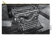 Old Fashioned Underwood Typewriter Bw Carry-all Pouch
