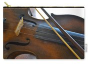 Old Fiddle And Bow Still Life 2 Carry-all Pouch