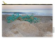 Old Fishing Net On Beach Carry-all Pouch