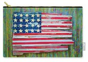 Old Glory In Wood Impression Carry-all Pouch