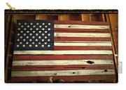 Old Glory In Wood Carry-all Pouch