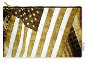 Old Glory Sepia Rustic Carry-all Pouch