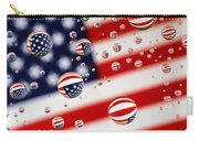 Old Glory Water Drops Carry-all Pouch