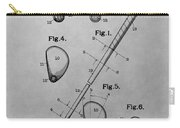 Old Golf Club Patent Illustration Carry-all Pouch