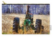 Old Green Tractor On The Farm Carry-all Pouch