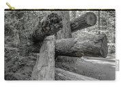 Old Growth Forest Black And White Collection 4 Carry-all Pouch