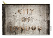 Old Grunge Stone Board With City Of London Text Carry-all Pouch