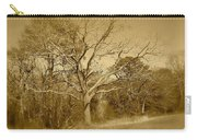 Old Haunted Tree In Sepia Carry-all Pouch