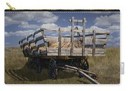 Old Hay Wagon In The Prairie Grass Carry-all Pouch