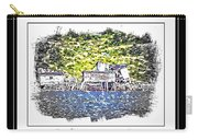 Old Homestead By The Sea Carry-all Pouch by Barbara Griffin