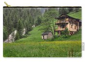 Old House On The Green Field Carry-all Pouch