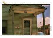 Old Houses - New Jersey - In The Oranges - Green House With Flower Pots And Rocking Chairs - Color Carry-all Pouch
